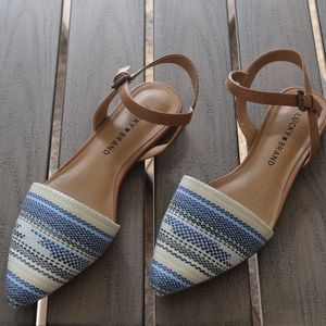 Lucky Brand Pointed Toe Closed Ankle Sandal 7.5 M